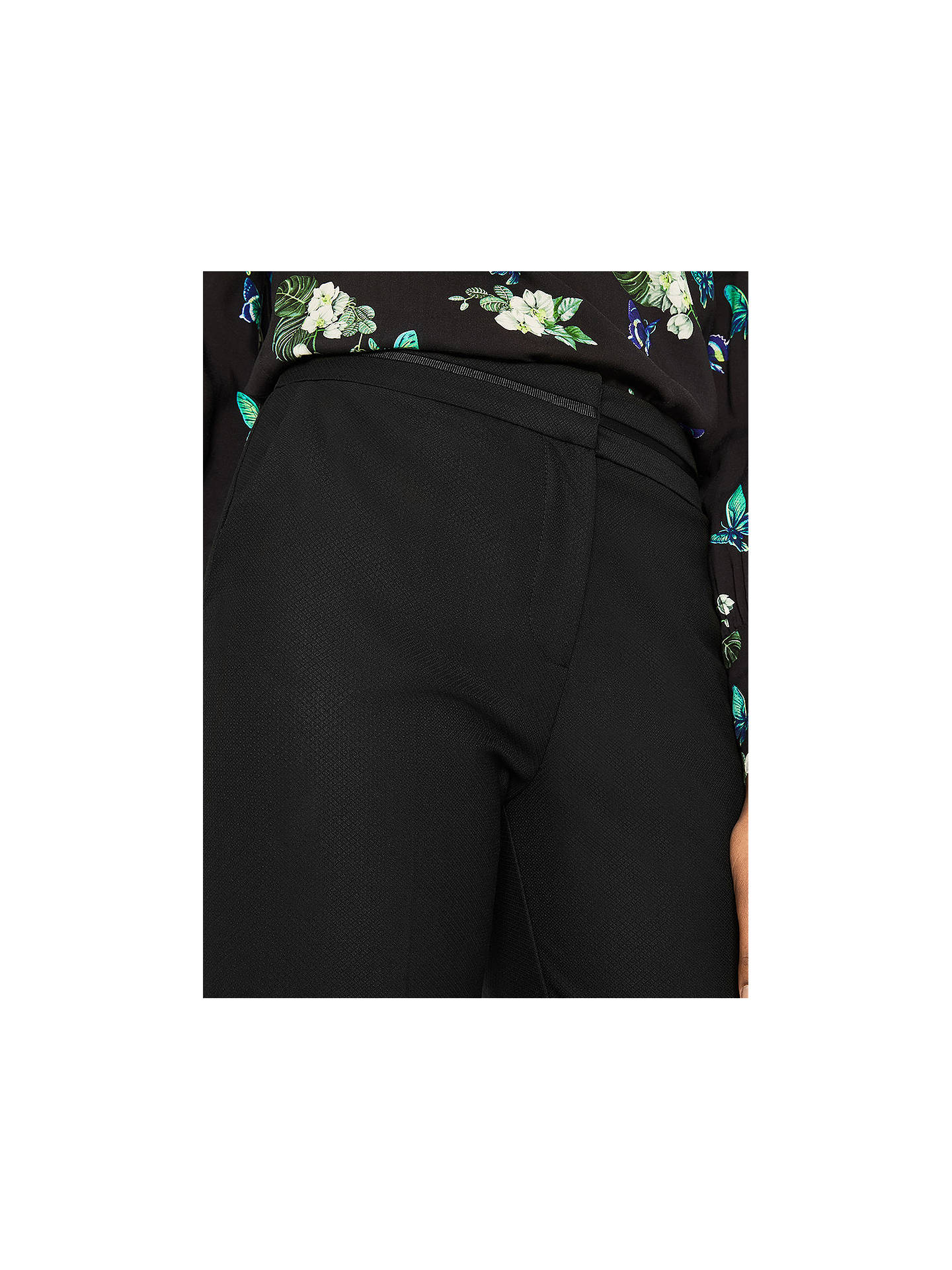 b733a379b209 ... Buy Oasis Camilla Split Detail Trousers, Black, 6 Online at  johnlewis.com