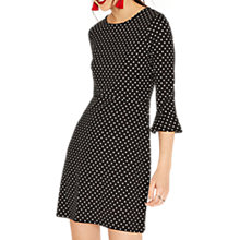 Buy Oasis Spot Ponte Dress, Black/White Online at johnlewis.com
