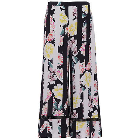 Buy French Connection Enoshima Culotte Trousers, Black/Multi Online at johnlewis.com