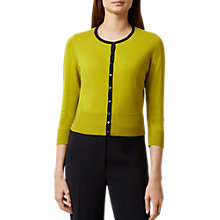 Buy Hobbs Evie Cardigan, Chartreuse/Navy Online at johnlewis.com
