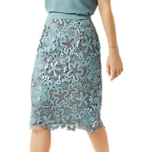 Buy Fenn Wright Manson Petite Wren Skirt, Blue/Silver Online at johnlewis.com