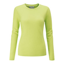 Buy Pure Collection Cashmere Crew Neck Jumper, Fresh Lime Online at johnlewis.com