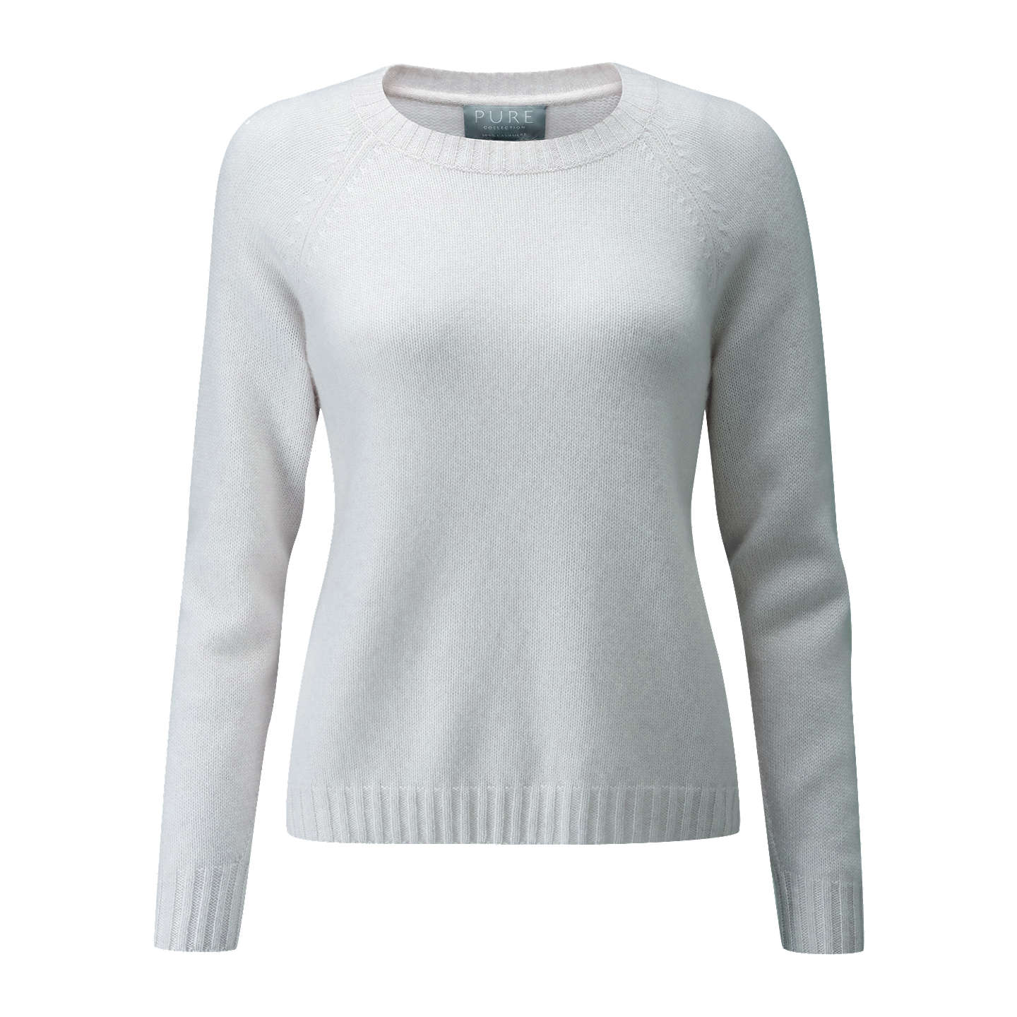 BuyPure Collection Cashmere Lofty Jumper, Iced Grey, 8 Online at johnlewis.com