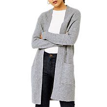 Buy Warehouse Soft Longline Cardigan, Dark Grey Online at johnlewis.com