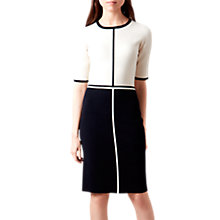 Buy Hobbs Serena Dress, Ivory/Navy Online at johnlewis.com
