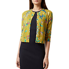 Buy Hobbs Buddleia Floral Cardigan, Chartreuse/Multi Online at johnlewis.com