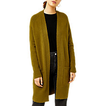 Buy Warehouse Soft Longline Cardigan, Khaki Online at johnlewis.com