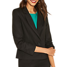 Buy Oasis Camila Split Detail Jacket, Black Online at johnlewis.com