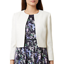 Buy Hobbs Elize Jacket, Ivory Online at johnlewis.com