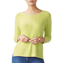 Buy Pure Collection Gassato Cashmere Cable Textured Jumper Online at johnlewis.com