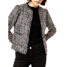 Buy Warehouse Molly Tweed Jacket, Multi Online at johnlewis.com