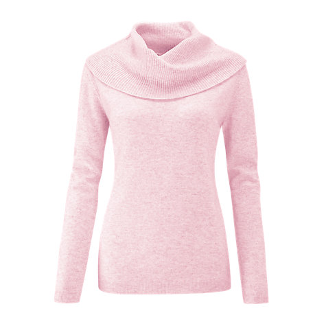 Buy Pure Collection Cashmere Cowl Neck Sweater, Rose Mist Online at johnlewis.com