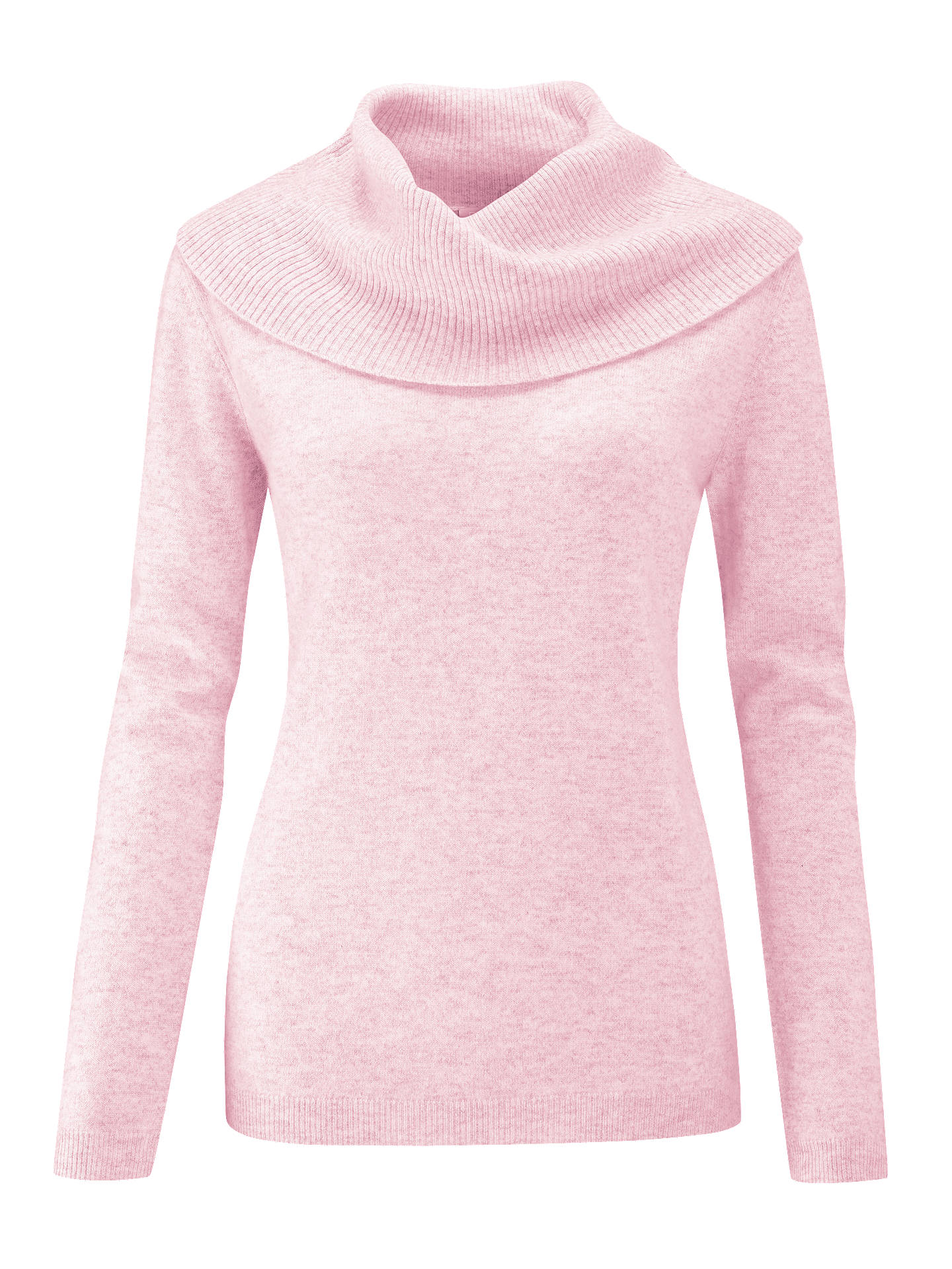 BuyPure Collection Cashmere Cowl Neck Sweater, Rose Mist, 8 Online at johnlewis.com