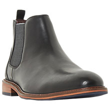 Buy Dune Mezut Leather Chelsea Boots, Black Online at johnlewis.com
