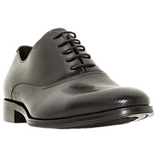 Buy Dune Pottery Punch Hole Oxford Shoes, Black Online at johnlewis.com