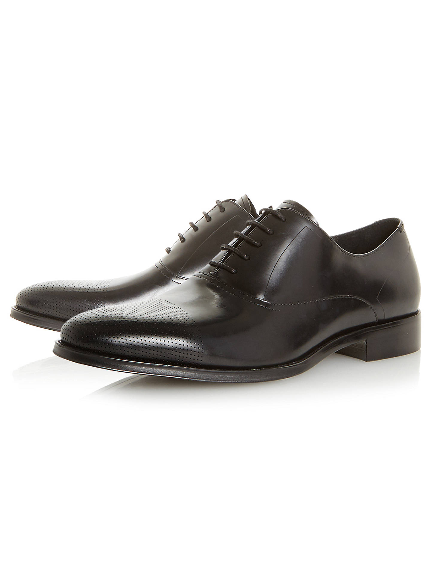 BuyDune Pottery Punch Hole Oxford Shoes, Black, 6 Online at johnlewis.com