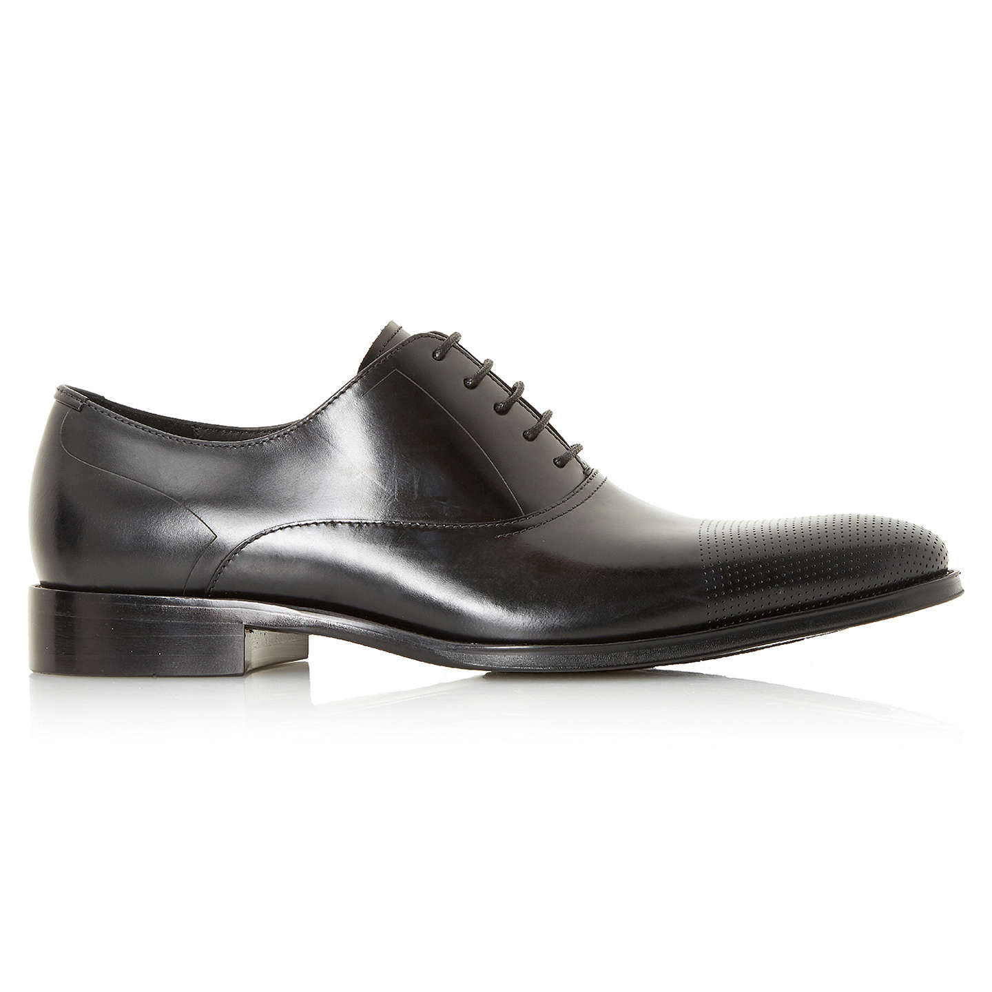 BuyDune Pottery Punch Hole Oxford Shoes, Black, 7 Online at johnlewis.com
