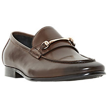 Buy Dune Pinocchio Snaffle Leather Loafers, Brown Online at johnlewis.com