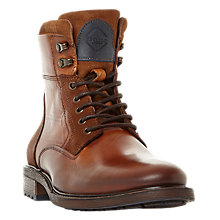 Buy Dune Colchester Leather Worker Boots, Tan Online at johnlewis.com