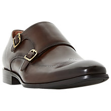 Buy Dune Poyet Double Buckle Monk Shoes, Brown Online at johnlewis.com