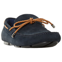 Buy Dune Barnstable Suede Loafers, Navy Online at johnlewis.com