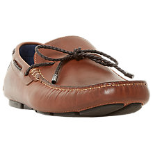 Buy Dune Barnstable Leather Loafers, Tan Online at johnlewis.com