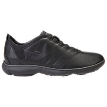 Buy Geox Nebula Leather Trainers, Black Online at johnlewis.com