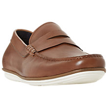 Buy Dune Balloon Leather Loafers, Tan Online at johnlewis.com