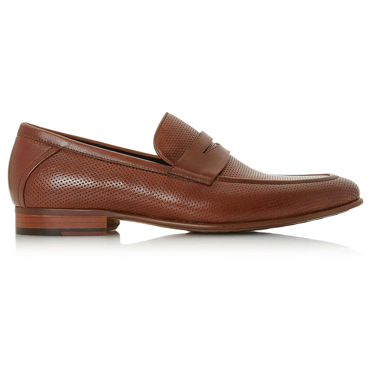 BuyDune Palazzo Penny Loafers, Tan, 6 Online at johnlewis.com