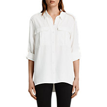 Buy AllSaints Millie Shirt, Chalk White Online at johnlewis.com