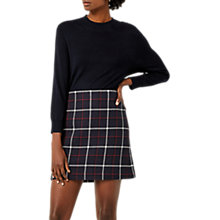 Buy Warehouse Check Pelmet Skirt, Multi Navy Online at johnlewis.com