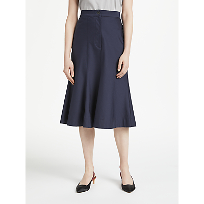Finery Aulay Fit and Flare Skirt, Navy