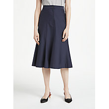 Buy Finery Aulay Fit and Flare Skirt, Navy Online at johnlewis.com