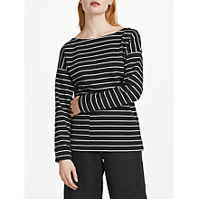 Buy Finery Stonebeck Stripe Sweater, Black/White Online at johnlewis.com