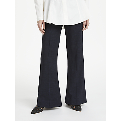 Finery Barby Flared Trousers, Navy