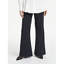 Buy Finery Barby Flared Trousers, Navy Online at johnlewis.com