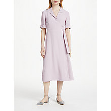Buy Finery Lyall Short Sleeve Wrap Shirt Dress, Lavender Online at johnlewis.com