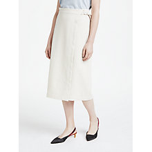 Buy Finery Keeley Wrap Skirt, Cream Online at johnlewis.com