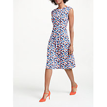 Buy Boden Marina Poppy Print Jersey Dress, Navy/Multi Online at johnlewis.com