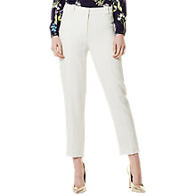 Buy Karen Millen Slim Leg Trousers, Ivory Online at johnlewis.com