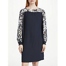 Buy Finery Novello Chiffon Dress, Navy/Multi Online at johnlewis.com