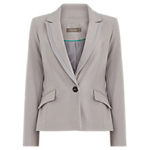 Buy Oasis Camila Split Detail Jacket, Mid Grey Online at johnlewis.com