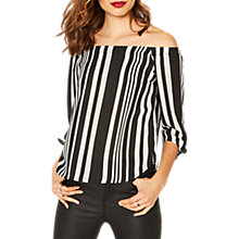 Buy Oasis Bardot Stripe Top, Multi Online at johnlewis.com