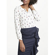 Buy Boden Paris Ballet Slipper Blouse Top, Ecru Online at johnlewis.com