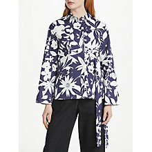 Buy Finery Priory Printed Shirt, Silhouette Blue Print Online at johnlewis.com