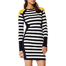 Buy Karen Millen Stripe Knit Dress, Multi Online at johnlewis.com