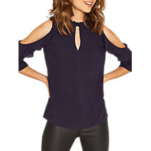Buy Oasis High Neck Cold Shoulder Top Online at johnlewis.com