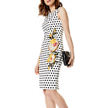 Buy Karen Millen Polka Dot Embroidered Floral Dress, Multi Online at johnlewis.com
