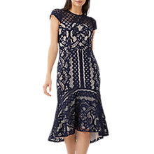 Buy Coast Deedee Lace Dress, Navy Online at johnlewis.com