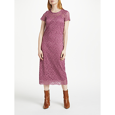 Finery Avenue Lace Column Dress, Lavender
